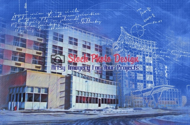 Construction Project Blueprint Image