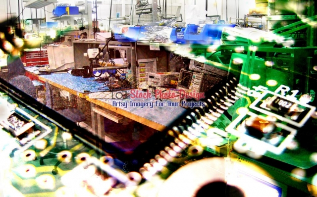 Electronic-Industry-Photo-Montage Image