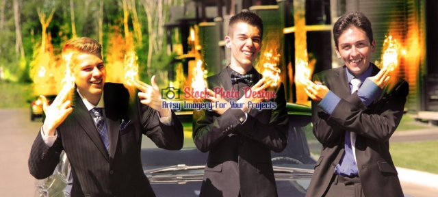 Fire-FX on Young Men Fingers Image