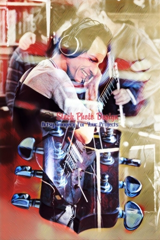 Guitar-Player-Photo-Montage Image