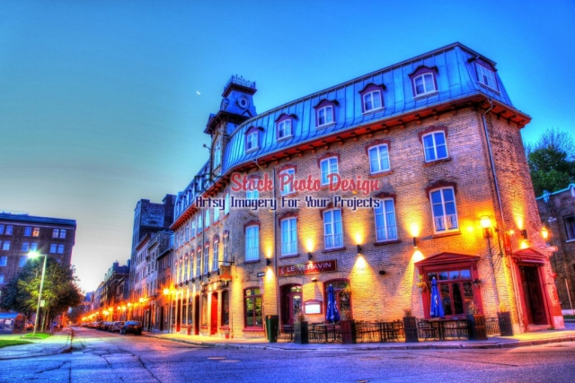 Old Quebec City District Restaurant Building Image
