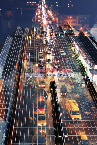 Urban-Traffic-Concept-Photo-Montage Image