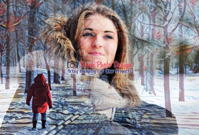 Winter-Woman-Photo-Montage Image