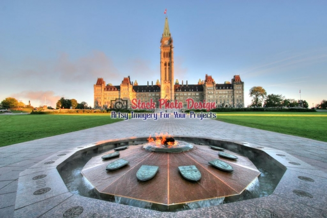 Ottawa-Parliament-and-Flames Image