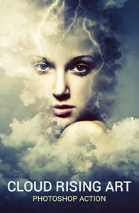 Cloud Rising Photo Effects Using Photoshop