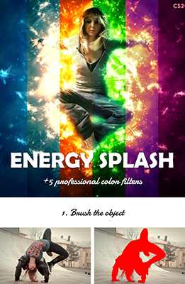 Energy Splash Photo Effects Using Photoshop