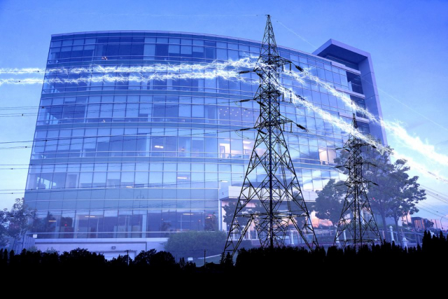 Business Electrification in Blue - Royalty-Free Stock Imagery