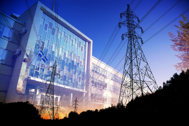 Commercial and Public Building Energy Efficiency - Royalty-Free Stock Imagery