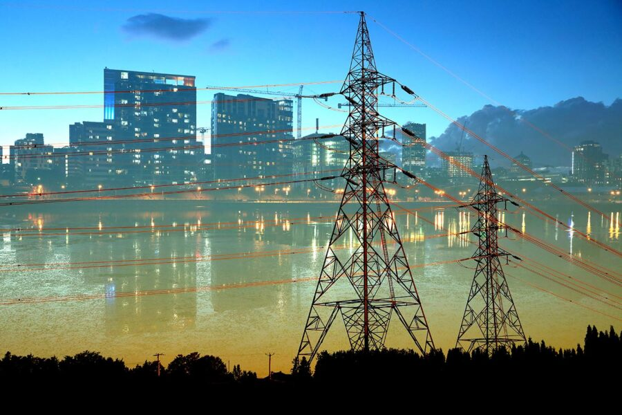 Secure Urban Energy Supply Photo Montage